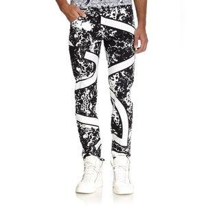 {Versace Jeans} Mens Splatter and Stripe Jeans